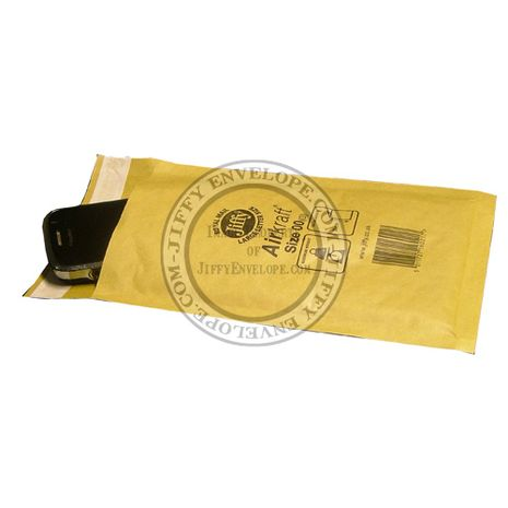 Jiffy Airkraft JL-GO-00 Gold Bubble Lined Mailer internal size 125mm x 195mm