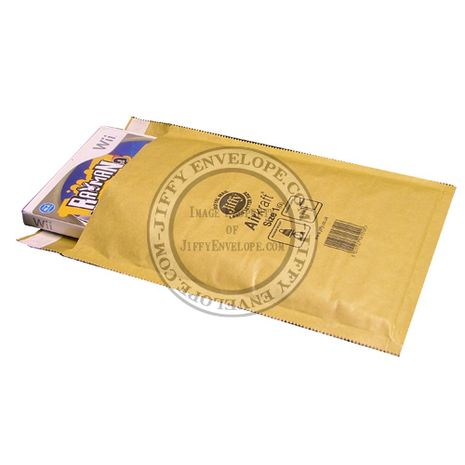 Jiffy Airkraft JL-GO-1 Gold Bubble Lined Mailer Internal Size 180mm x 245mm